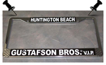 gustafson brothers license plate frame
