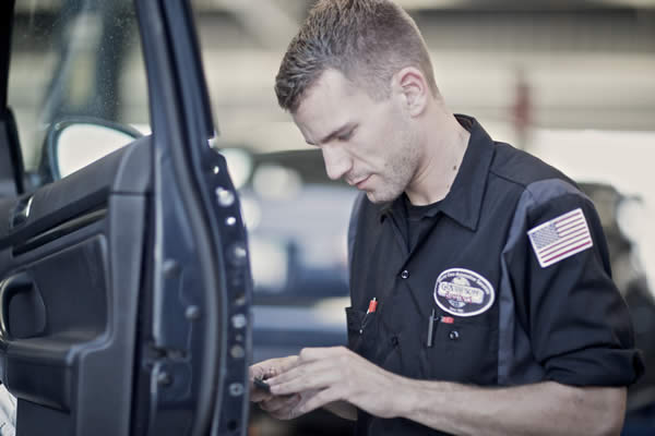 huntington beach auto repair - working on a car